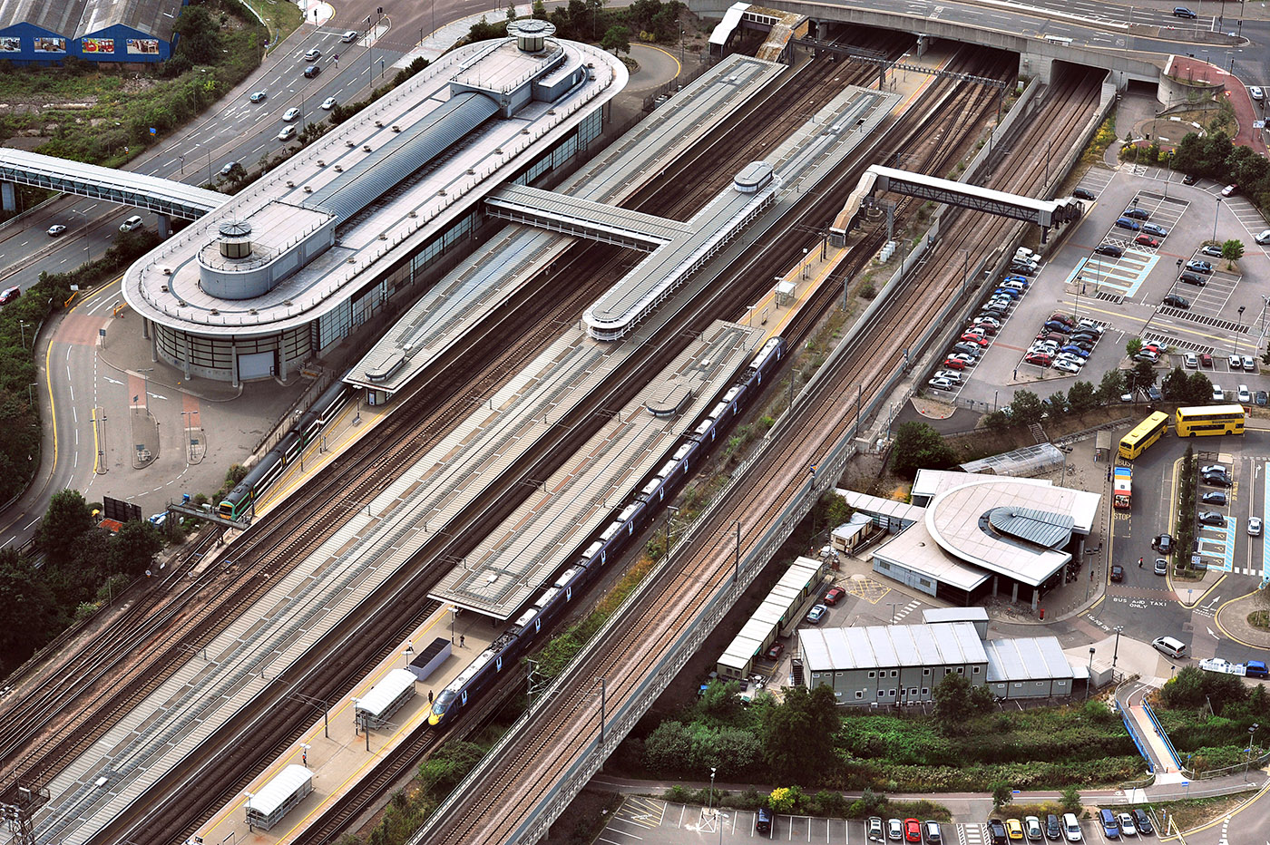 Ashford International Station from the air