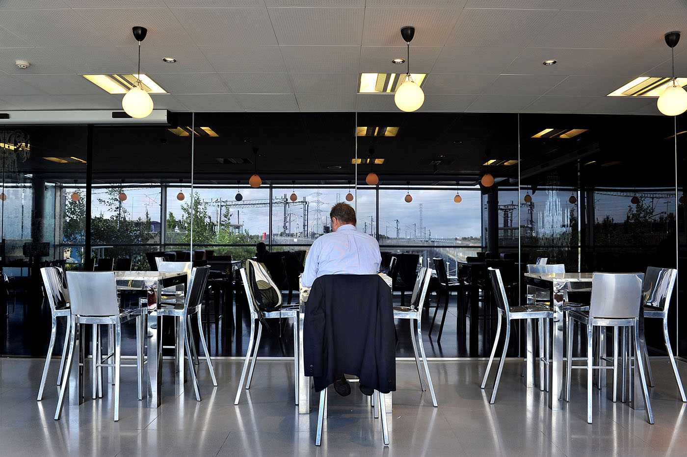 The First Class Lounge in the Eurostar Departure area at Ebbsfleet International train station