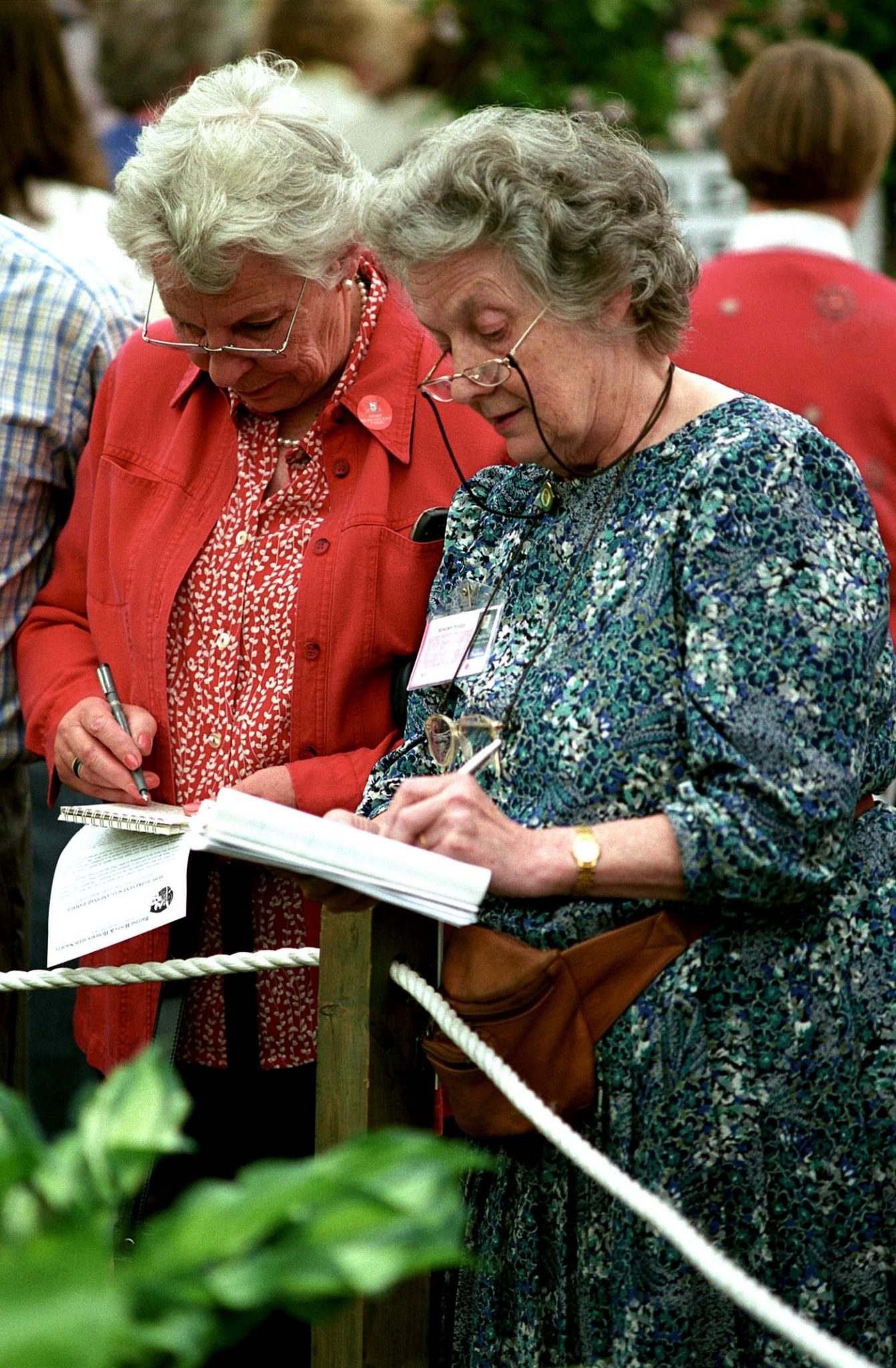 Visitors attend the Chelsea Flower Show